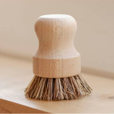 No Tox Life Teakwood Pot Scrubber Rose City Goods Plastic Free Replace Plastic Sustainable Solution Kitchen Accessories Plant Fiber Bristles Wooden Handle Plastic Free Alternative Dish Brush