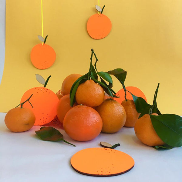 Fruit Wall Charm // Orange