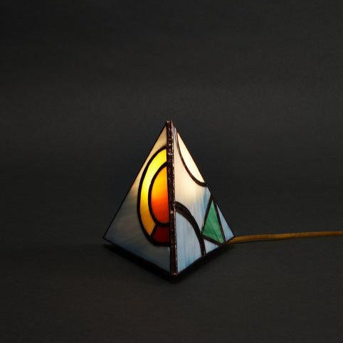 Pyramid Tabletop Lamp // Orbitz