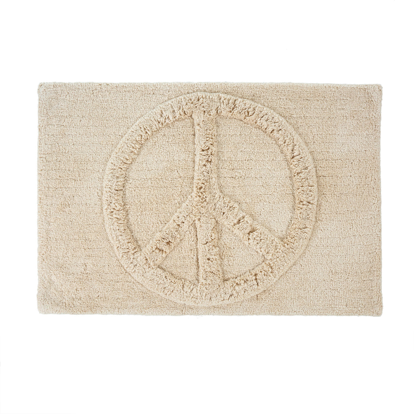 Indaba Trading Peace Bath Mat Rose City Goods Cute Bath Mat Bathroom Accessories Ethically Made Home Goods Sustainably Sourced Housewares Machine Washable Bath Mat