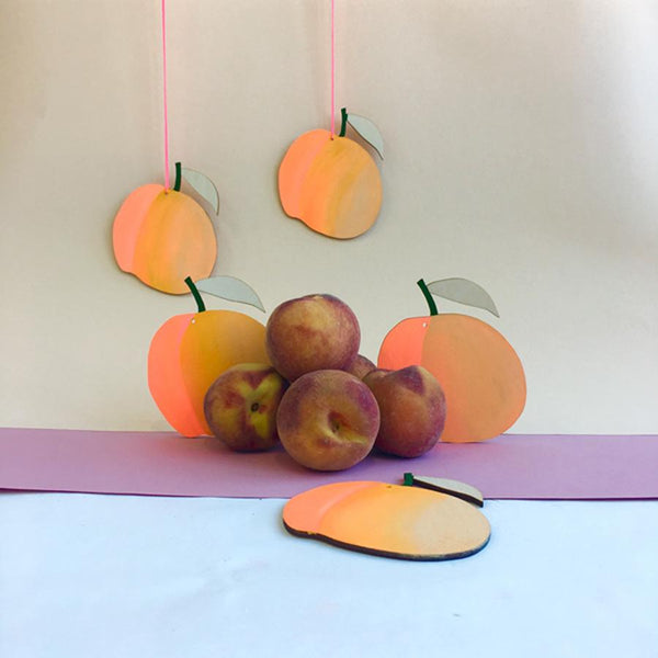 Fruit Wall Charm // Peach