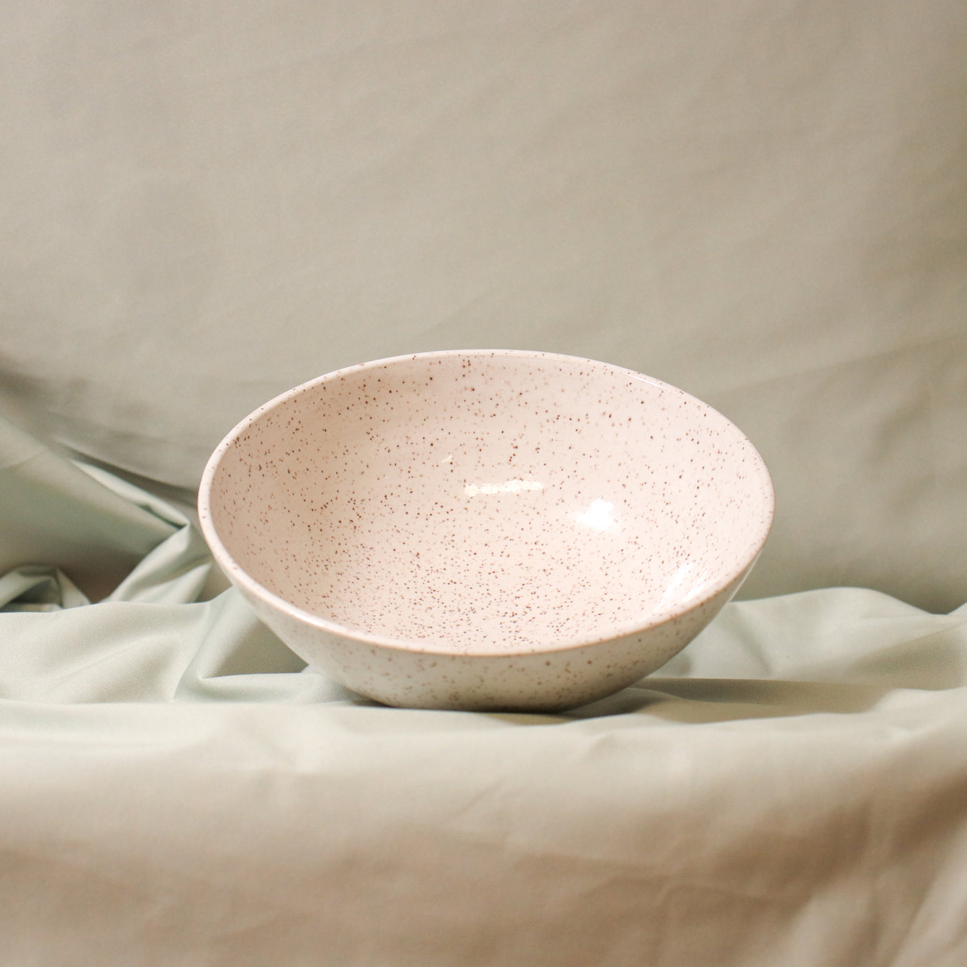 Pinto Projects Dinner Bowl Rose City Goods Handmade Wheel Thrown Bowl Speckled Glaze Eggshell Modern Handmade Housewares Ethically Made in Vancouver BC