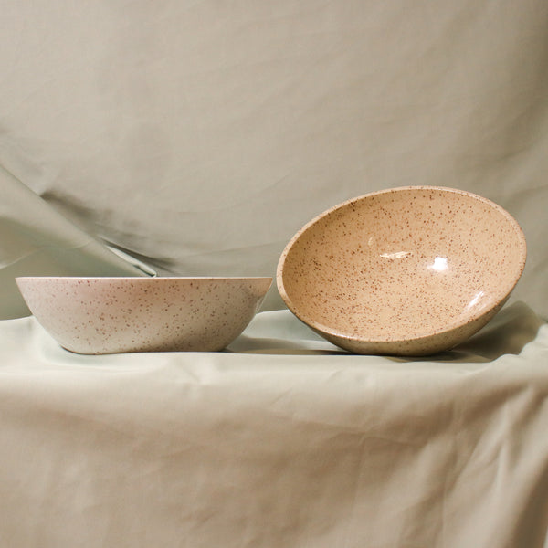 Pinto Projects Dinner Bowl Rose City Goods Handmade Wheel Thrown Bowl Speckled Glaze Eggshell or Cinnamon Modern Handmade Housewares Ethically Made in Vancouver BC