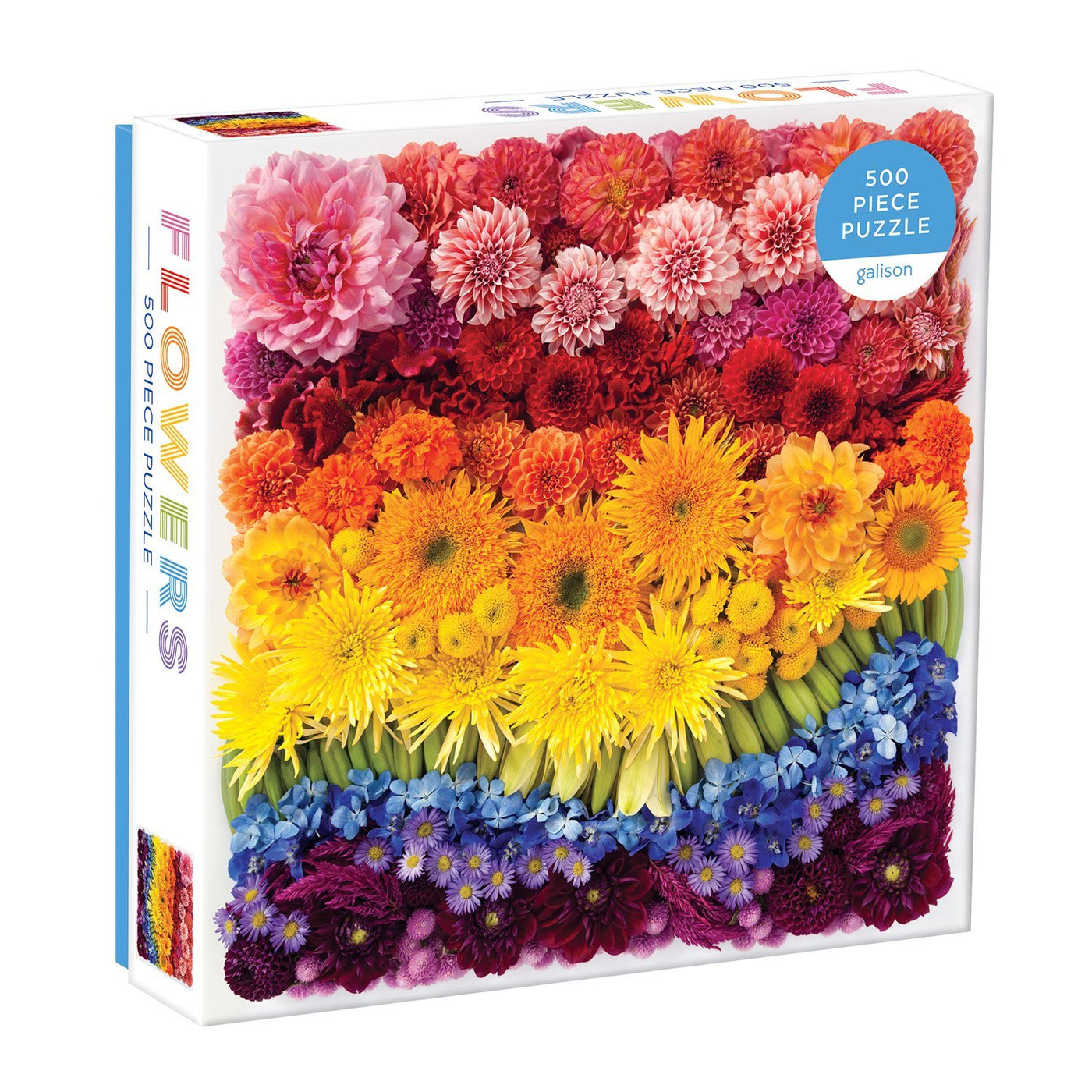 Galison Mudpuppy Rainbow Summer Flowers 500 Piece Puzzle Rose City Goods Julie Seabrook Hey Jules Studio Colourful Puzzle Things To Do in Lockdown Things To Do in Quarantine Lockdown Activity Quarantine Activity