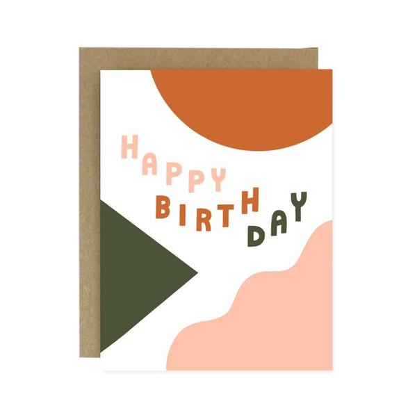 Shapes + Colours Birthday Card