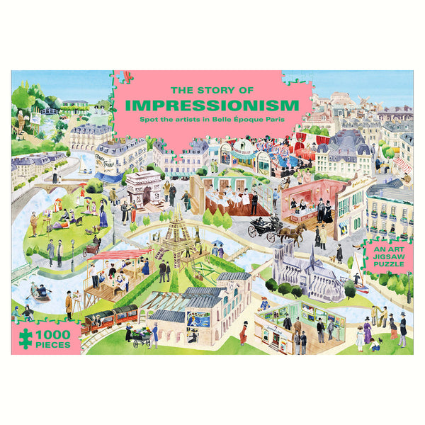 The Story of Impressionism 1000 Piece Puzzle Rose City Goods