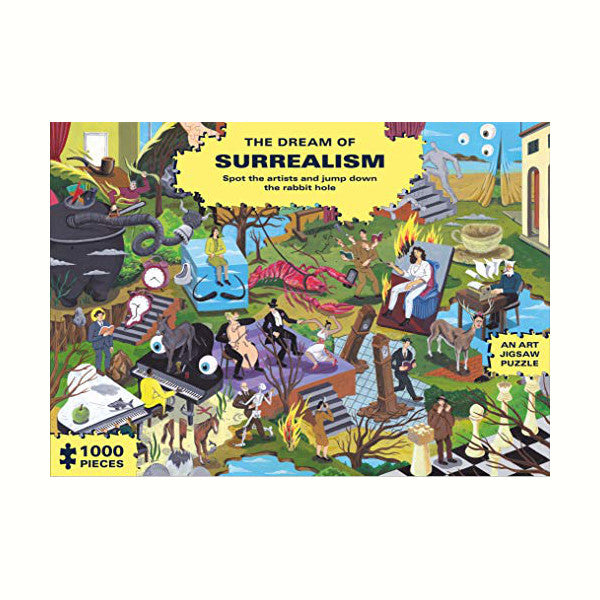 The Dream of Surrealism Puzzle Rose City Goods 1000 Piece Jigsaw Puzzle Inspired by the Surrealism Movement