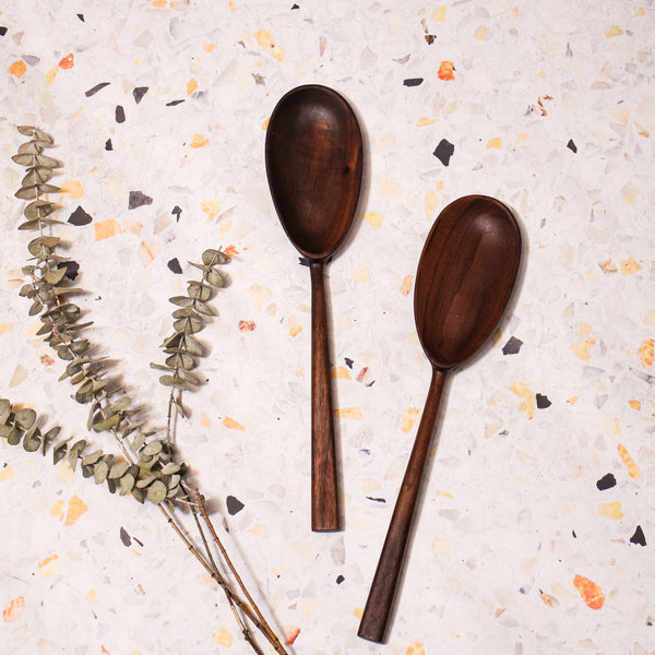 Wooden Serving Spoon // Oval