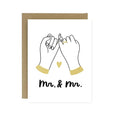 Pinky Promise Wedding Card