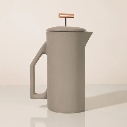 ceramic french press in matte grey