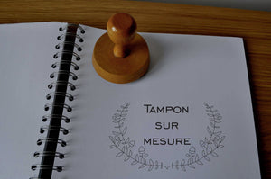 Tampon personnalisé logo, tampon personnalisé texte, tampon sur mesure, tampon bois, tampon mariage, tampon adresse personnalisable,