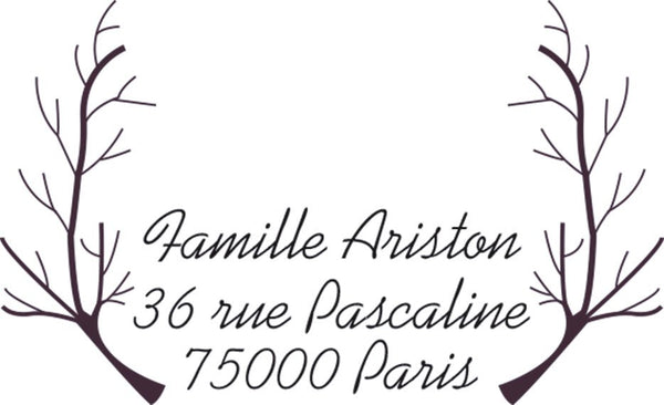 Tampon A12, Tampon adresse sur mesure, tampon adresse personnalisé, tampon adresse papeterie mariage, tampon personnalisé sur mesure,