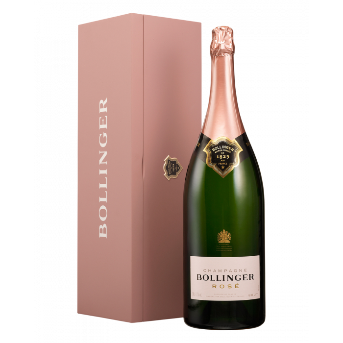 Bollinger Rosé 3L Jeroboam with Timber Gift Box
