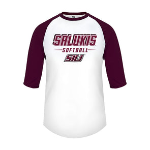 SIU Salukis Badger Softball 3/4 Sleeves Dri-fit T-Shirt