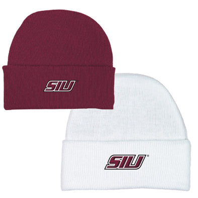 SIU Salukis 2 Feet Ahead Infant Knit Cap - White