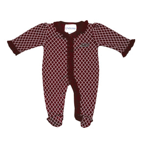 SIU Salukis 2 Feet Ahead Infant Lattice Ruffled Onesie - 6 Months