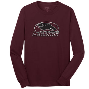 Southern Illinois Salukis Maroon Youth Long Sleeve T-Shirt