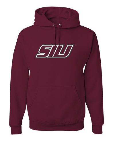 SIU Athletic Logo Maroon Fleece Hooded Sweatshirt