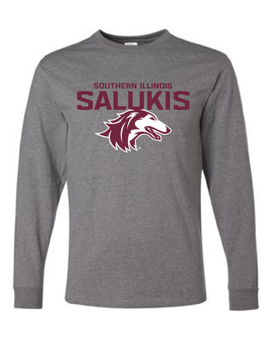 NEW 2019 ATHLETIC LOGO SOUTHERN ILLINOIS SALUKIS LONG SLEEVE T-SHIRT