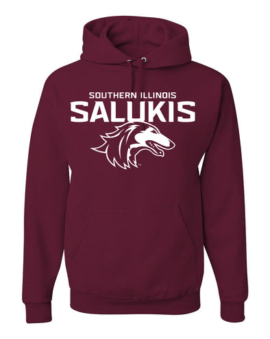 NEW MAROON 2019 ATHLETIC LOGO SOUTHERN ILLINOIS SALUKIS HOOD
