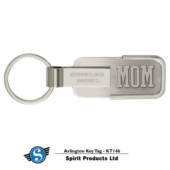Southern Illinois University Mom Silver Arlington Key Tag
