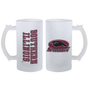 Spirit Southern Illinois frosted mug with handle