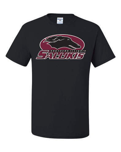 Southern Illinois Salukis Athletic Logo Black T-Shirt