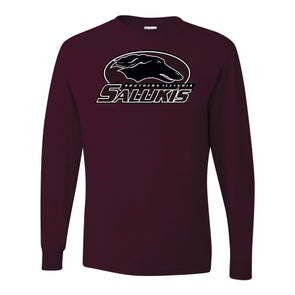 SIU Salukis Full Dog Athletic Logo Long Sleeve T-shirt