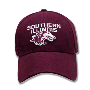 NEW 2019 ATHLETIC LOGO SOUTHERN ILLINOIS SALUKIS CLASSIC STRUCTURED TWILL HAT