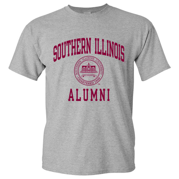 SIU Southern Illinois Alumni Seal Grey T-shirt