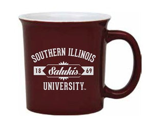 R&D Specialty Salukis Two Tone Maroon/White Mug