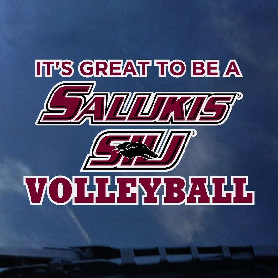SIU Salukis CDI® Color Shock Volleyball Decal