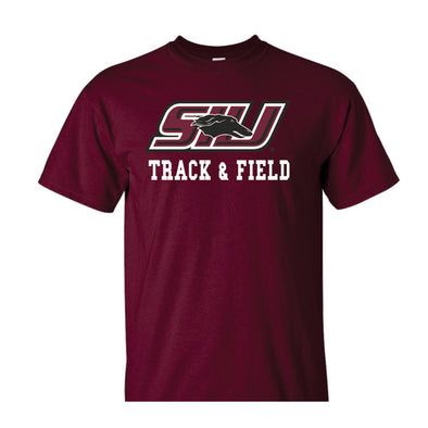 SIU Salukis Russell Maroon Sport Drop Track and Field T-Shirt