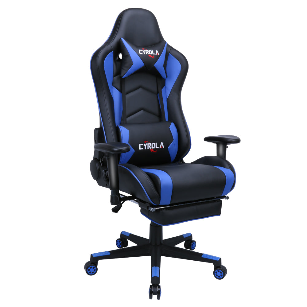 Pleasant Racing Gaming Chair Video Game Chair Computer Gaming Chair With Footrest Rocker Gaming Chair Racing Chair Cyrola Official Warranty Caraccident5 Cool Chair Designs And Ideas Caraccident5Info