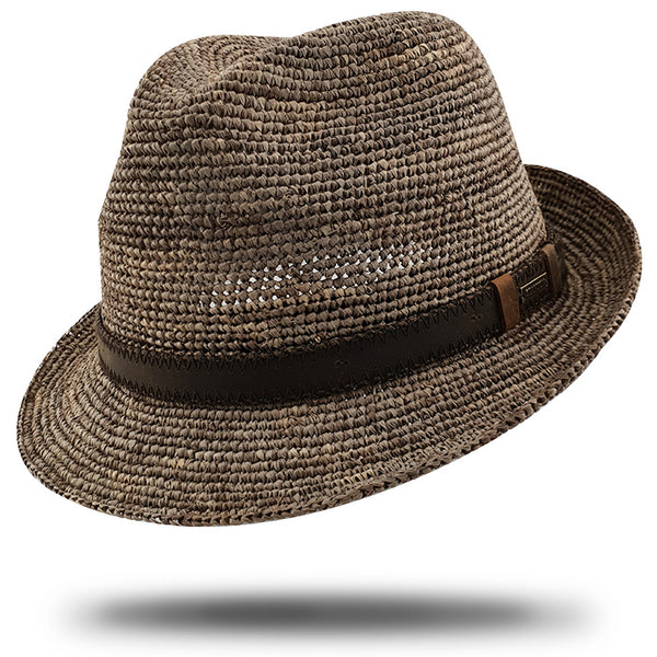 Raffia Trilby Leather Band