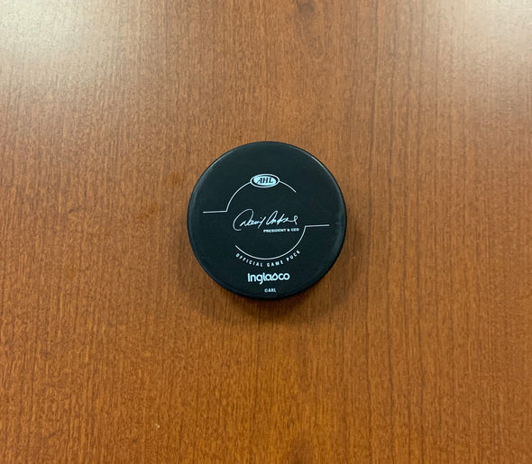 Official Game Puck - 25th Anniversary Season - 2018-19