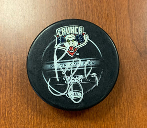 #9 Brendan Bell Autographed Game Puck - 2009-10