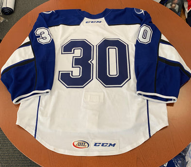 #30 Blank White Jersey (emergency player jersey) - 2016-17