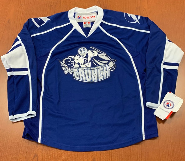 Syracuse Crunch Youth Replica Jersey - BLUE - Old Neck Style