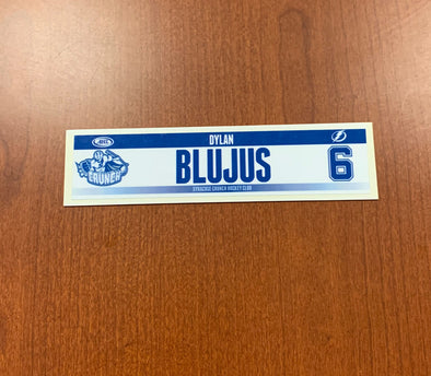 #6 Dylan Blujus Home Nameplate - 2014-17