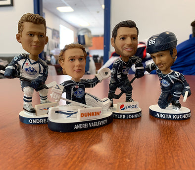 Alumni Bobble Set - Four (4) Bobbles - Kucherov, Johnson, Palat, Vasilevskiy