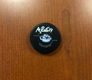 #33 Matt Bodie Autographed Game Puck - 2017-18
