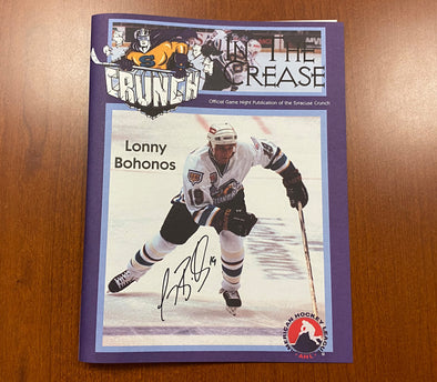 #19 Lonny Bohonos Autographed In The Crease Cover