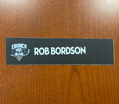 #19 Rob Bordson Home Nameplate - 2010-11
