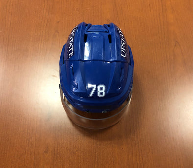 #78 Michael Bournival Game-Used Blue Helmet - 2018-19