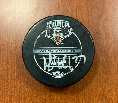 #27 Mathieu Carle Autographed Game Puck - 2011-12