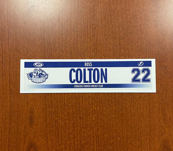 #22 Ross Colton Home Nameplate - 2018-20