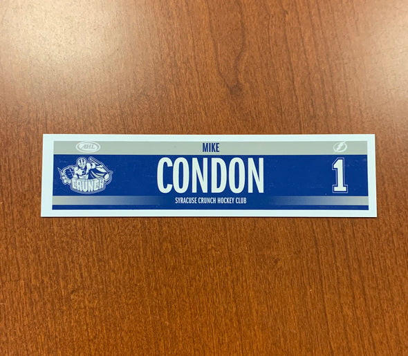 #1 Mike Condon Road Nameplate - 2019-20