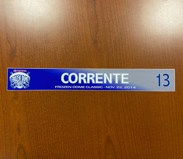#13 Matt Corrente Toyota Frozen Dome Classic Nameplate - November 22, 2014
