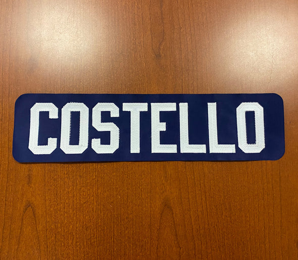 #16 Jeff Costello Blue Name Bar